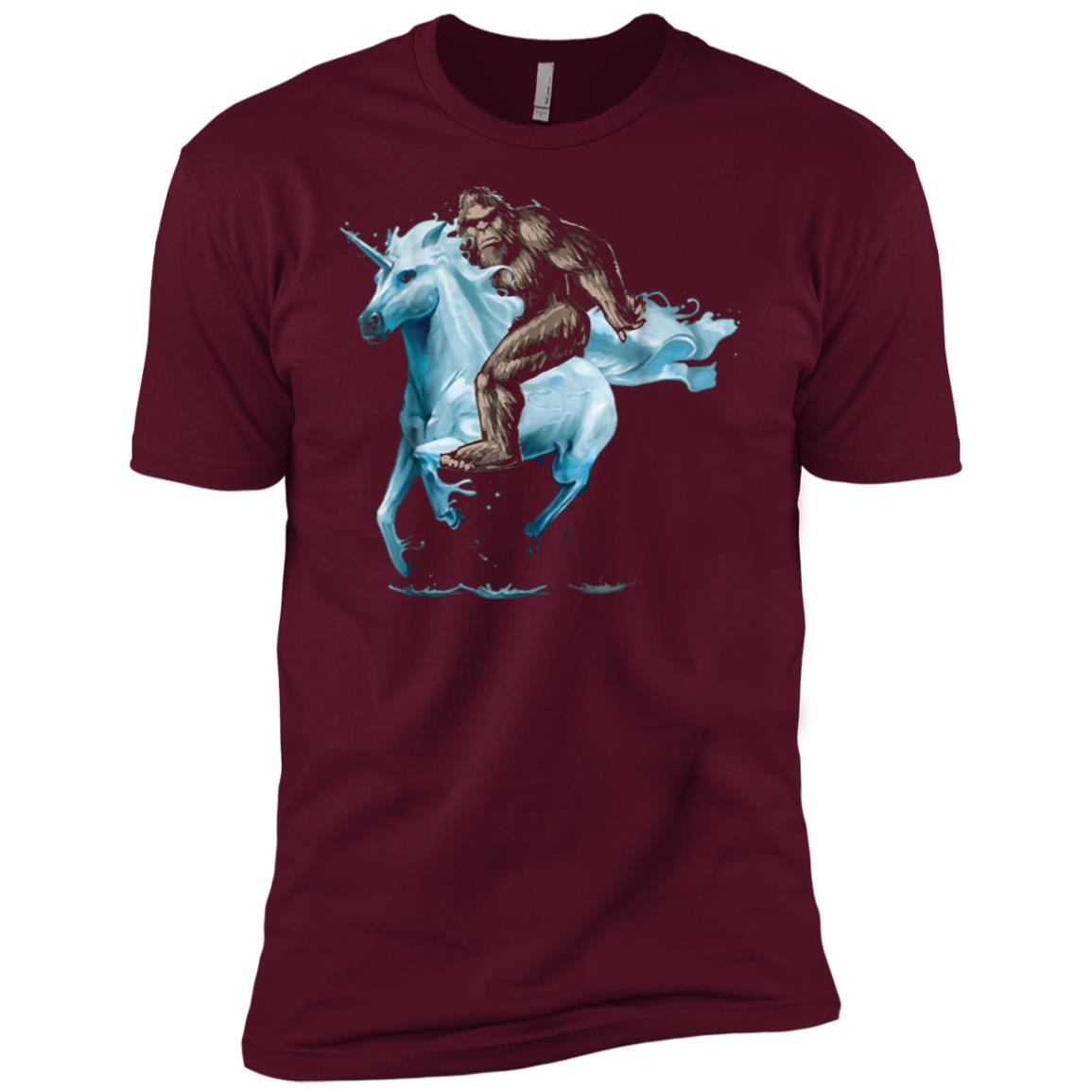 Bigfoot riding Unicorn Men Short Sleeve T-Shirt