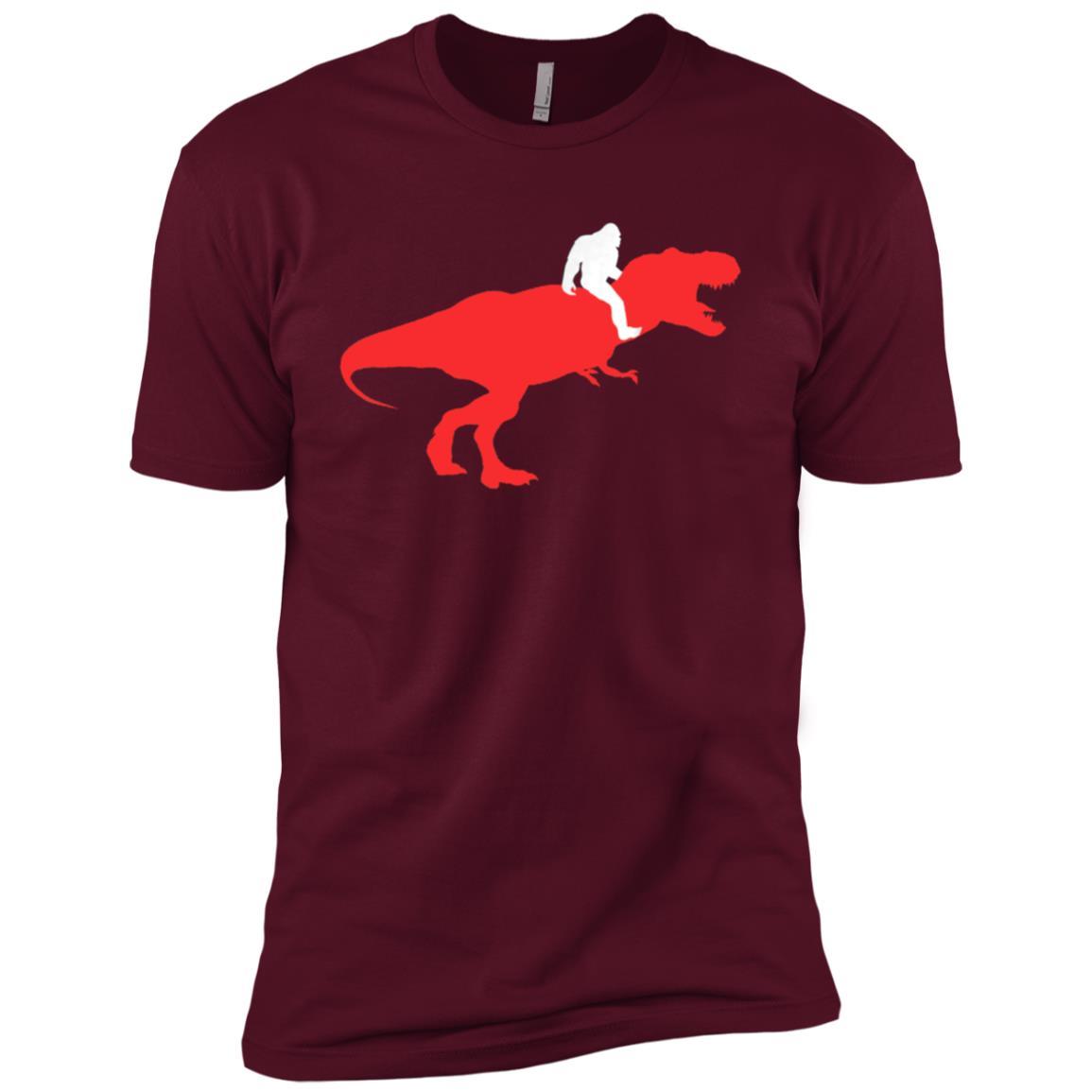 Bigfoot Riding Loch Ness Monster, Monster Hunter Men Short Sleeve T-Shirt