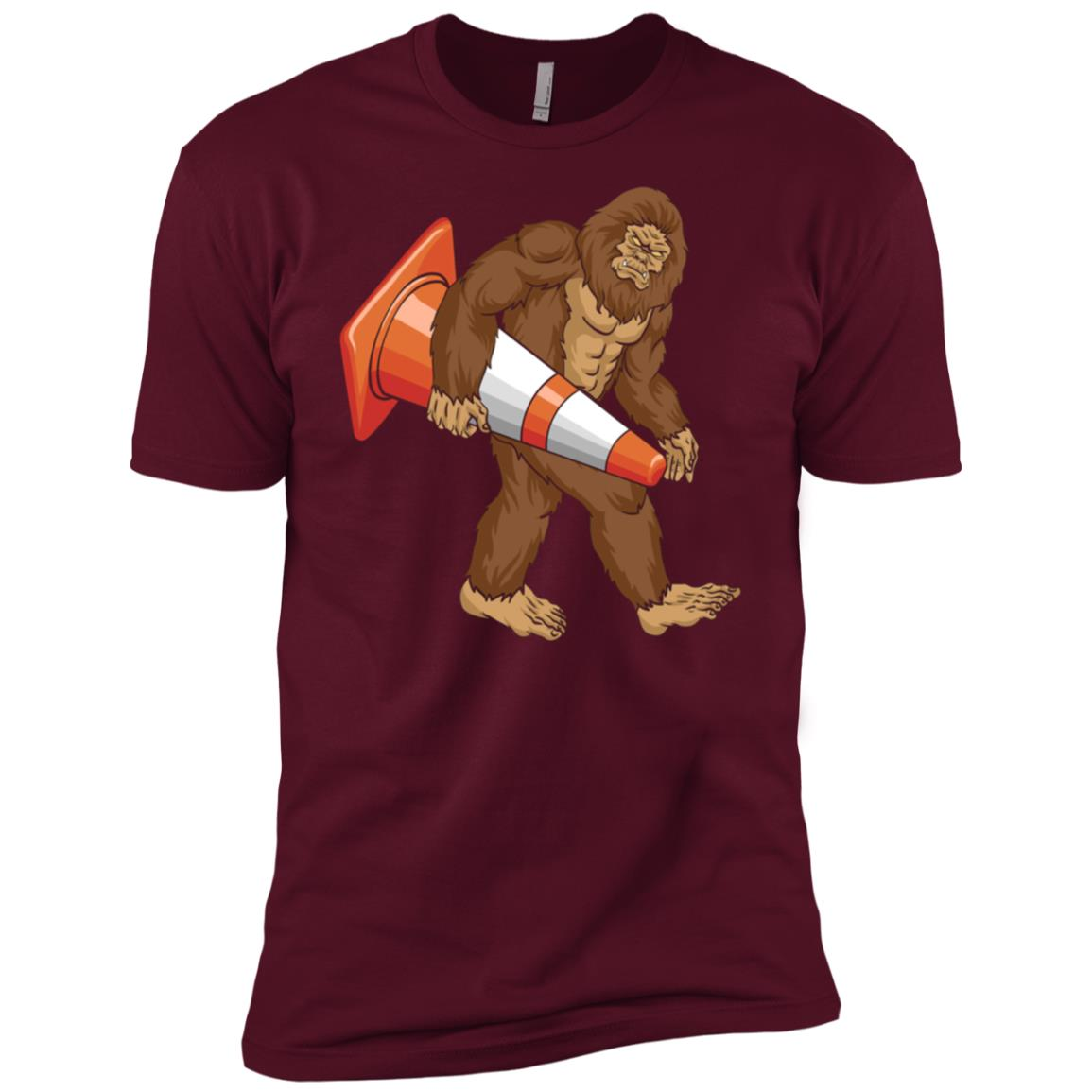 Bigfoot Traffic Cone – Funny Road Workerss Men Short Sleeve T-Shirt