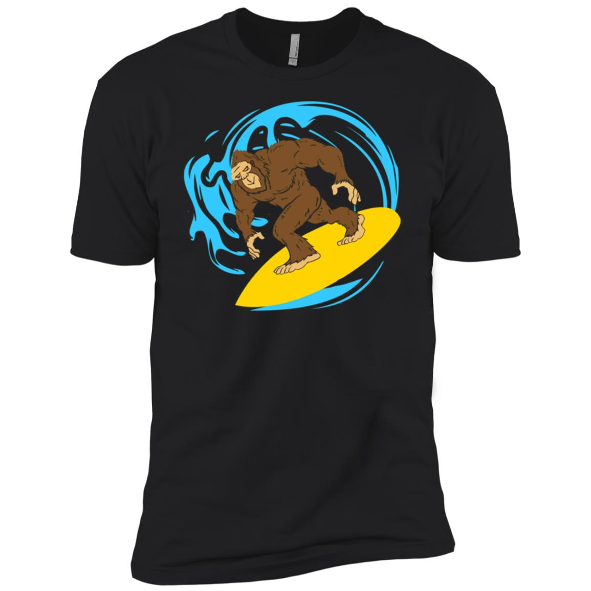 Bigfoot Surfing Surf Riding The Wave Men Short Sleeve T-Shirt