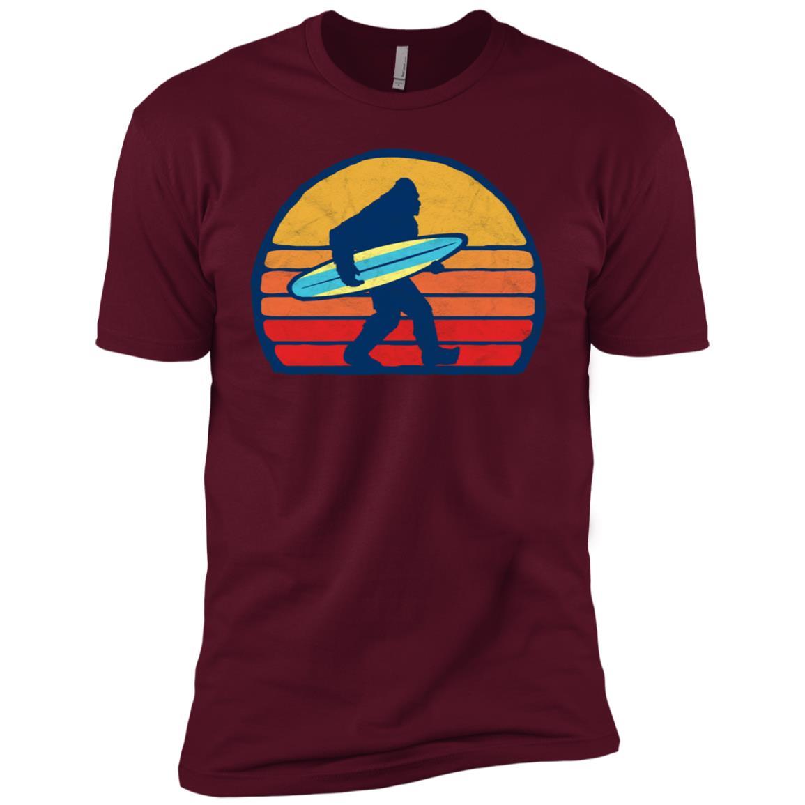 Bigfoot Silhouette & Surfboard Squatch Surf Tee-4 Men Short Sleeve T-Shirt