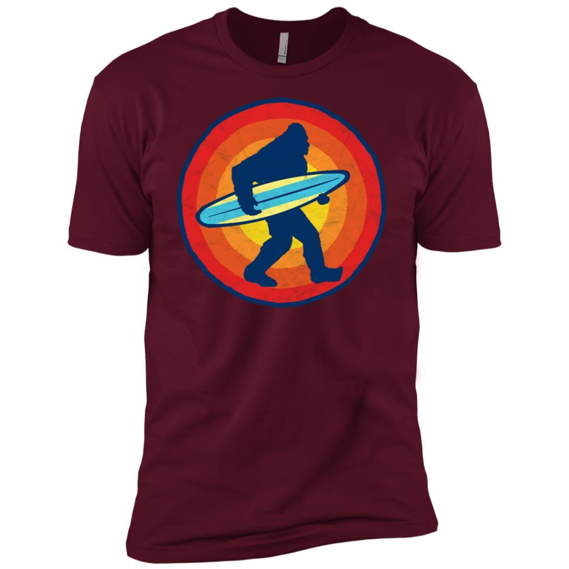 Bigfoot Silhouette & Surfboard Squatch Surf Tee-3 Men Short Sleeve T-Shirt