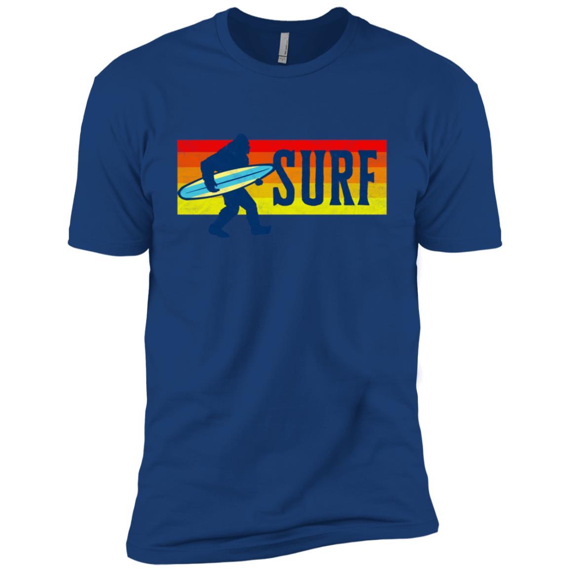 Bigfoot Silhouette & Surfboard Squatch Surf Tee Men Short Sleeve T-Shirt