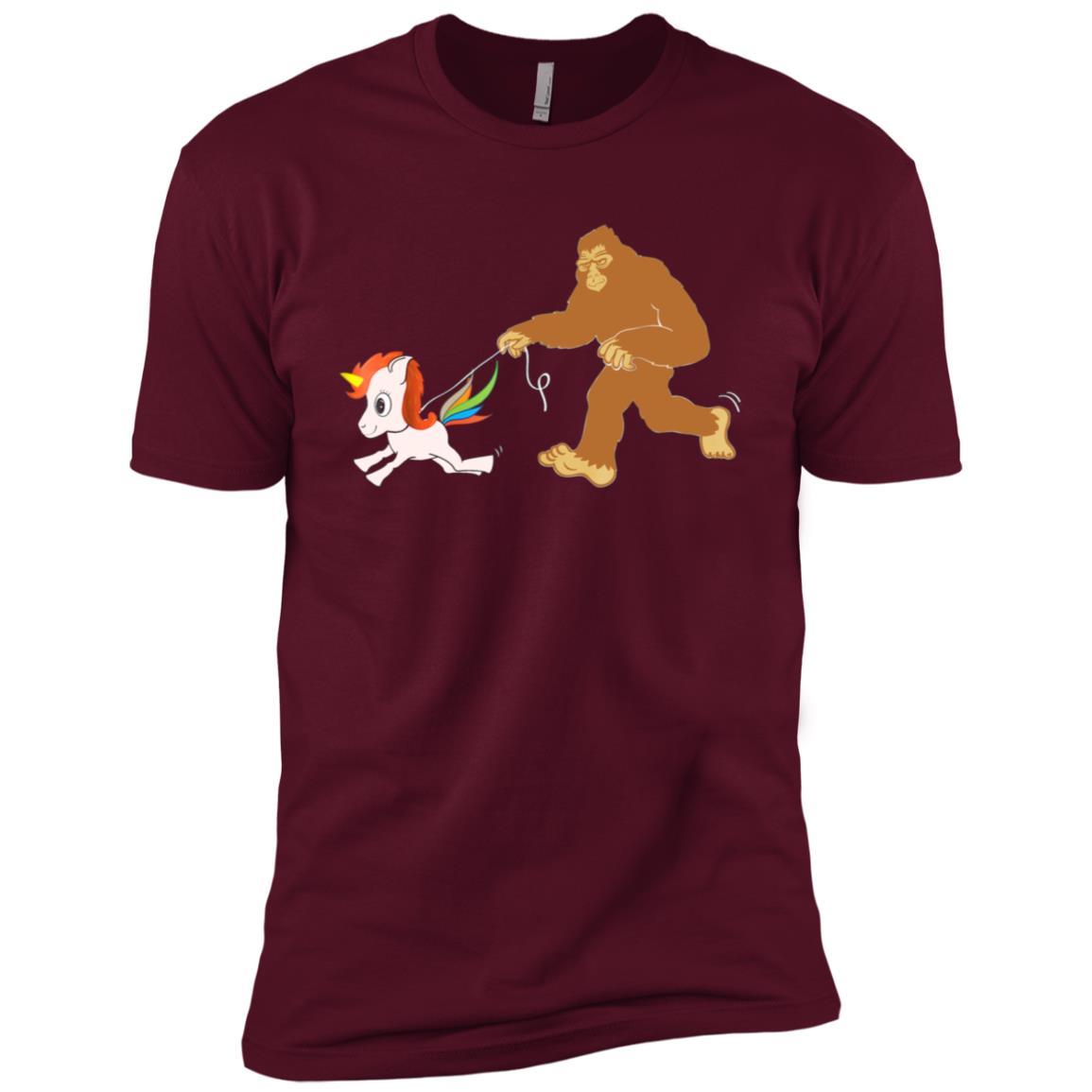 Bigfoot Walks Unicorn Tee Men Short Sleeve T-Shirt