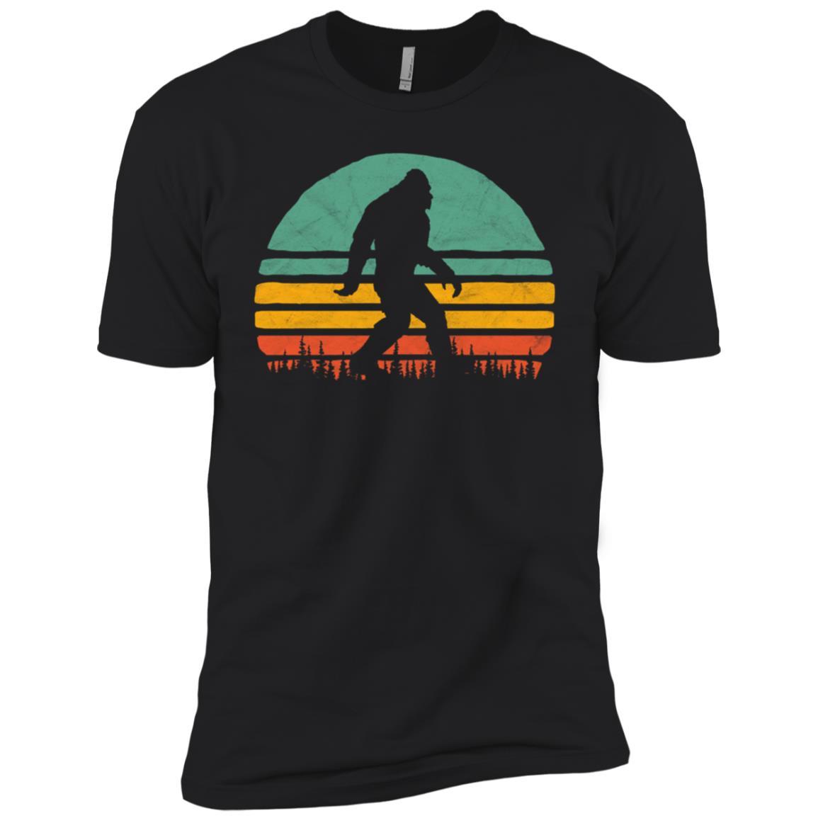 Bigfoot Vintage Sun Silhouette Eighties Vibe Tee Men Short Sleeve T-Shirt