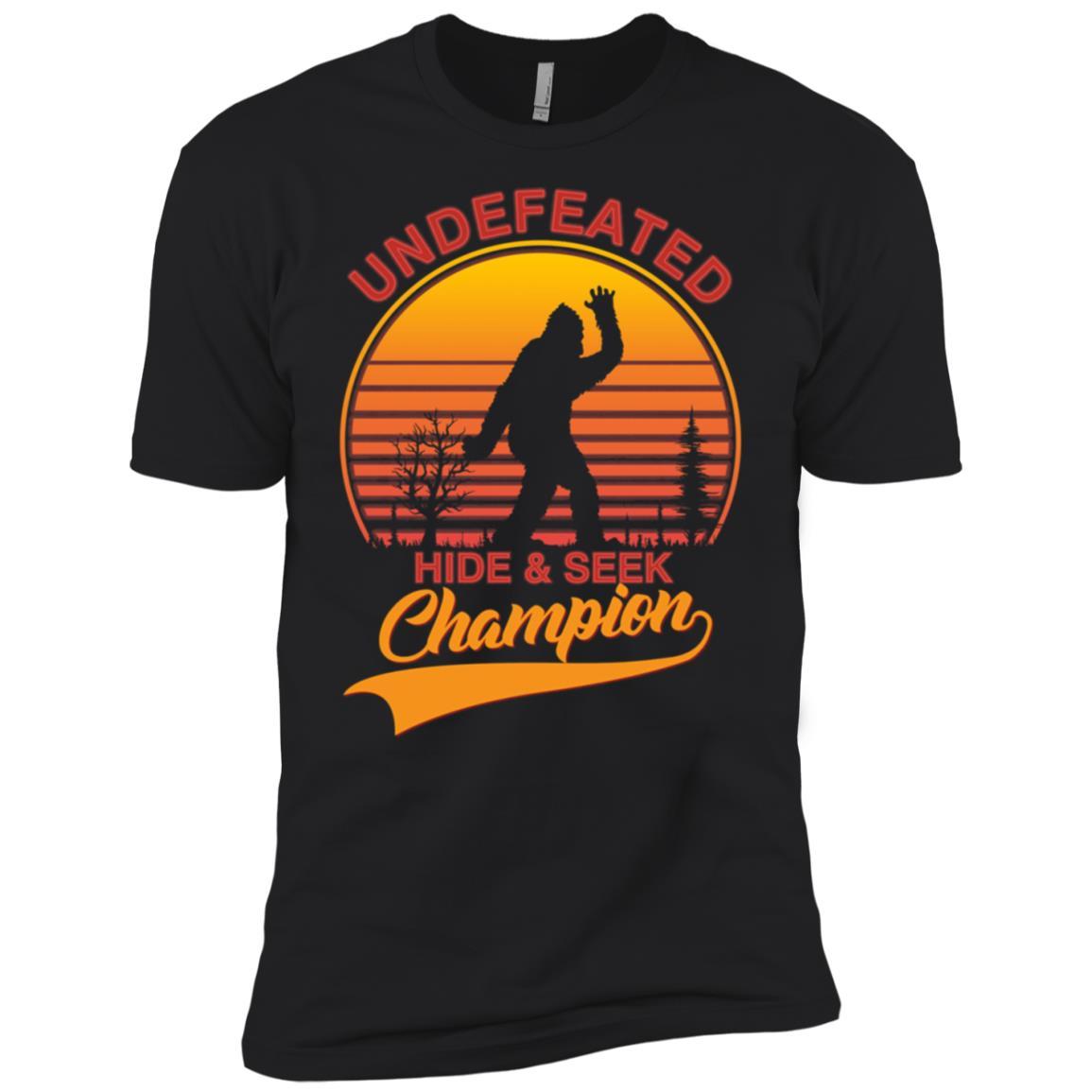 Bigfoot Undefeated Hide & Seek Sasquatch Yeti Gift-3 Men Short Sleeve T-Shirt