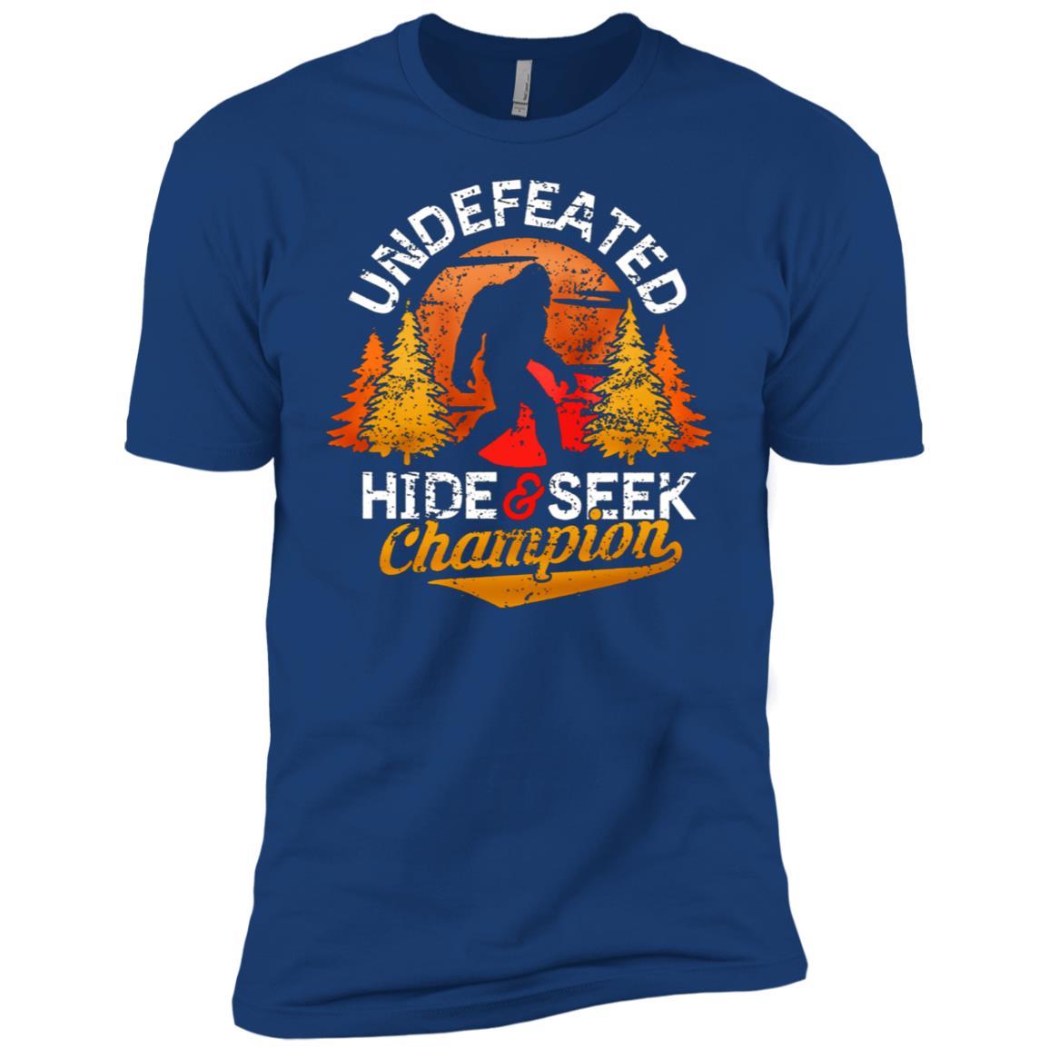 Bigfoot Undefeated Hide & Seek Sasquatch Yeti Gift-2 Men Short Sleeve T-Shirt