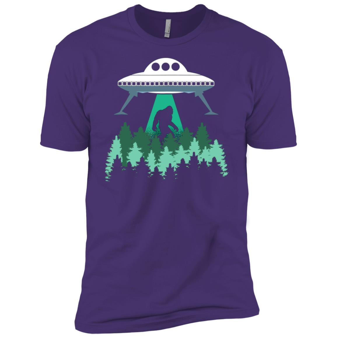 Bigfoot UFO Abduction Alien Men Short Sleeve T-Shirt