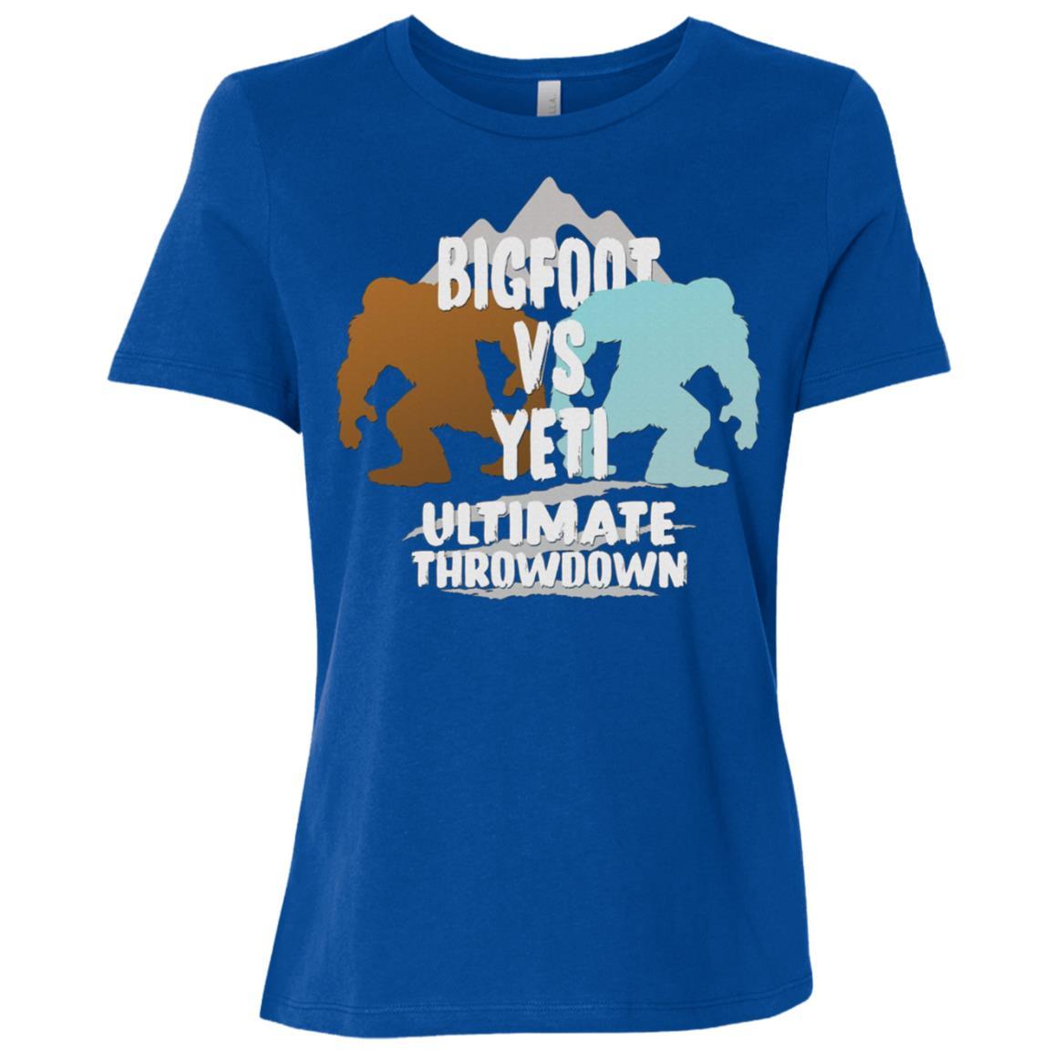 Bigfoot Vs Yeti Ultimate Throwdown Gift Women Short Sleeve T-Shirt