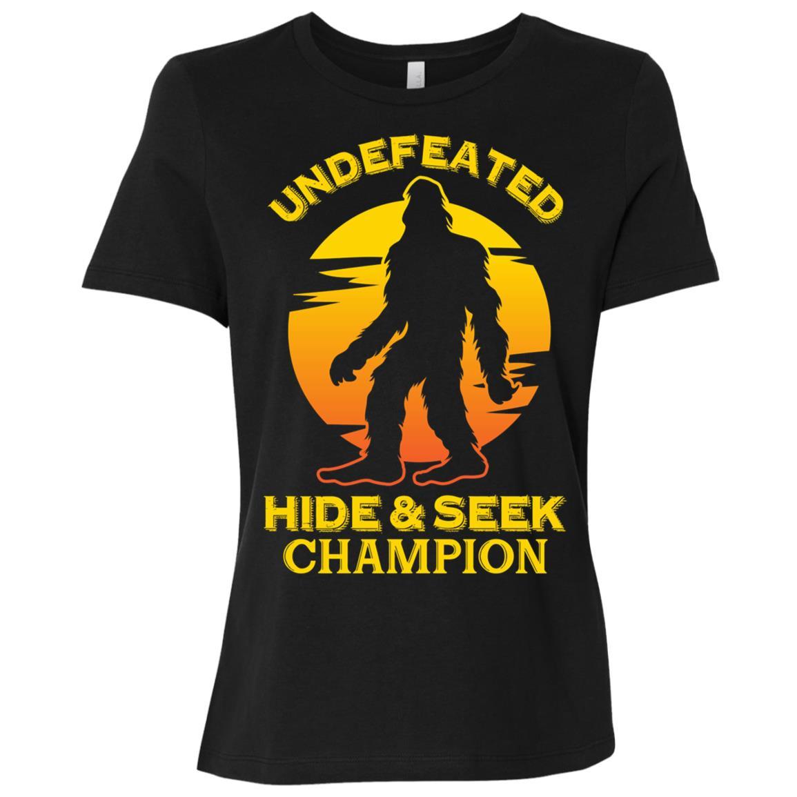 Bigfoot Undefeated Hide & Seek Sasquatch Yeti Women Short Sleeve T-Shirt