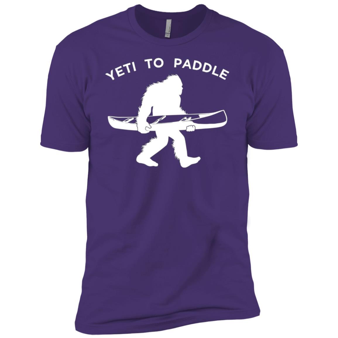 Canoe Yeti , Funny Yeti To Paddle Men Short Sleeve T-Shirt