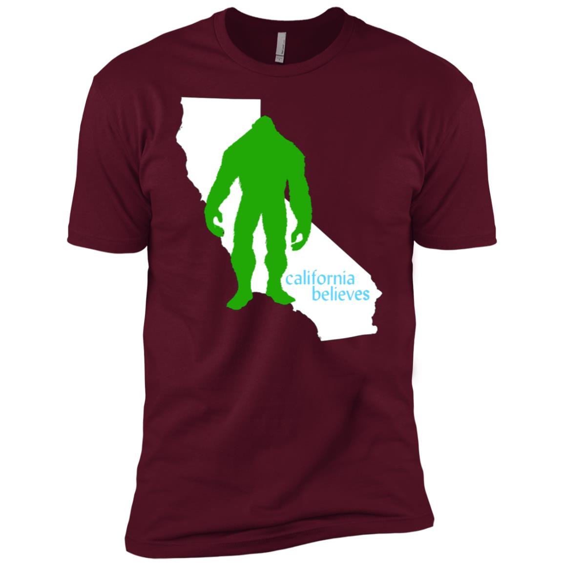 California Believes ~ Bigfoot Men Short Sleeve T-Shirt