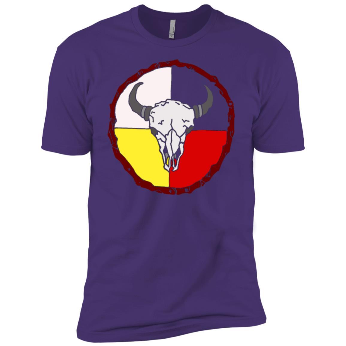 Buffalo Skull Medicine Wheel Short Sleeve Men Short Sleeve T-Shirt