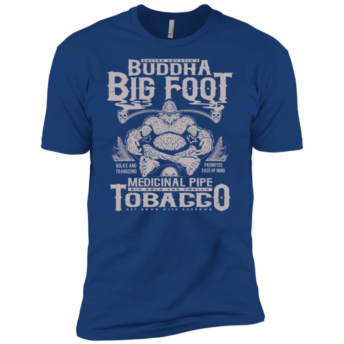 Buddha Bigfoot Medicinal Pipe Tobacco Men Short Sleeve T-Shirt