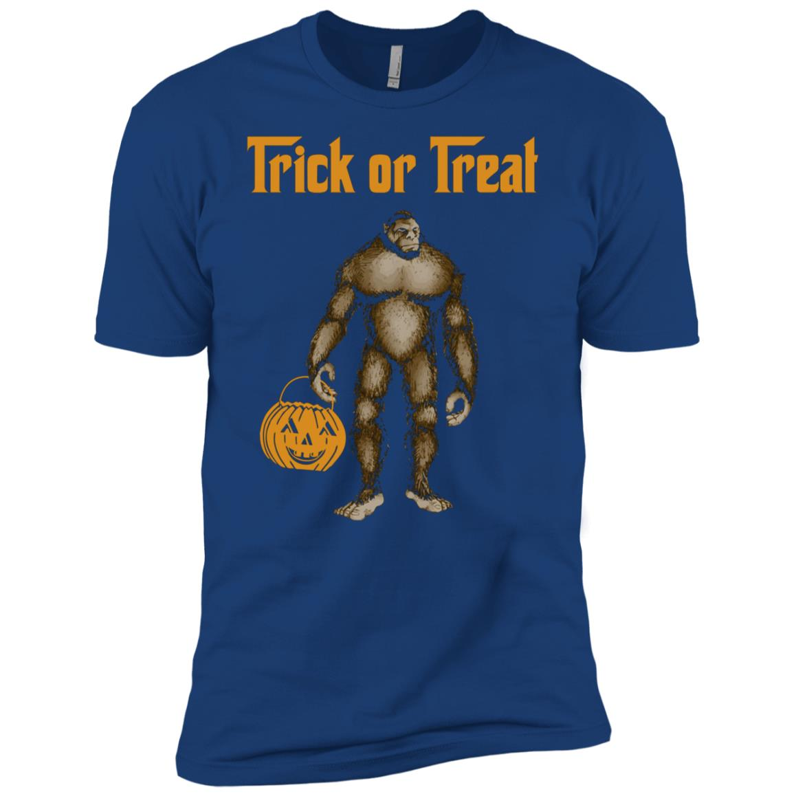 Bigfoot Yeti Sasquatch Happy Halloween Men Short Sleeve T-Shirt