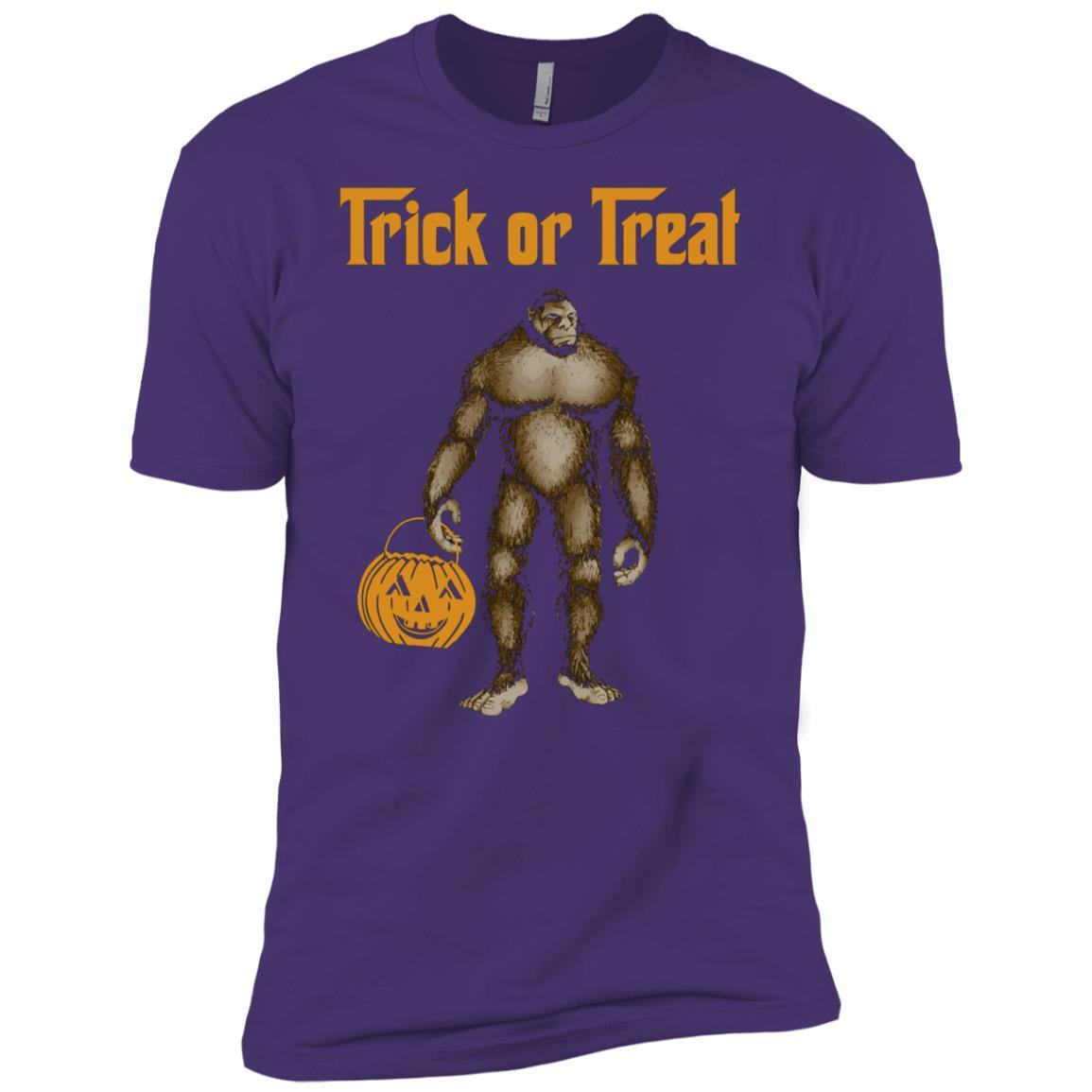 Bigfoot Yeti Sasquatch Happy Halloween Men Short Sleeve T-Shirt