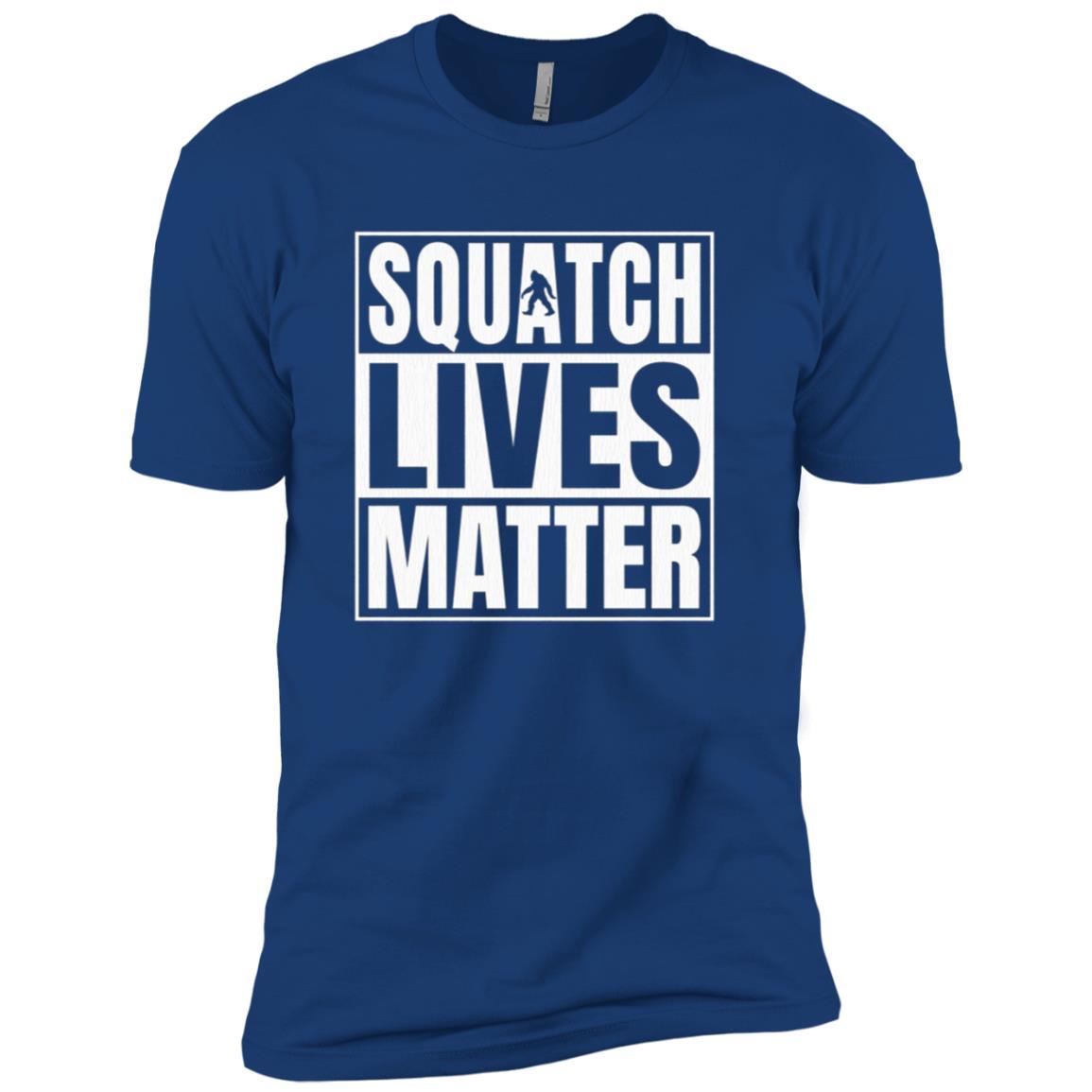 Bigfoot Yeti Sasquatch - Squatch Lives Matter Funny Men Short Sleeve T-Shirt