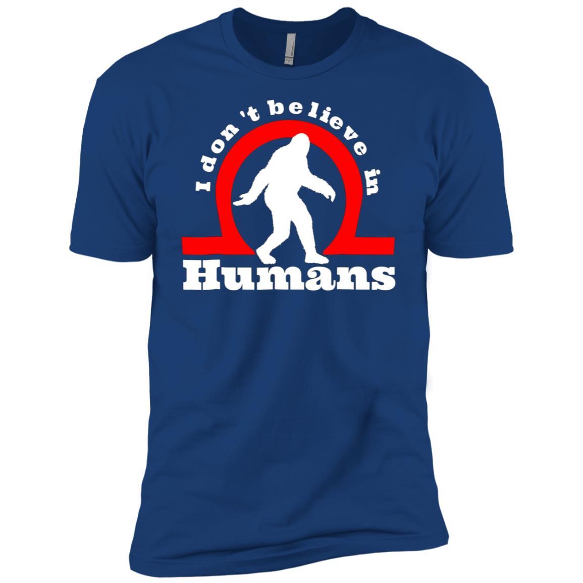 bigfoot yeti don't belive in humans funny Men Short Sleeve T-Shirt