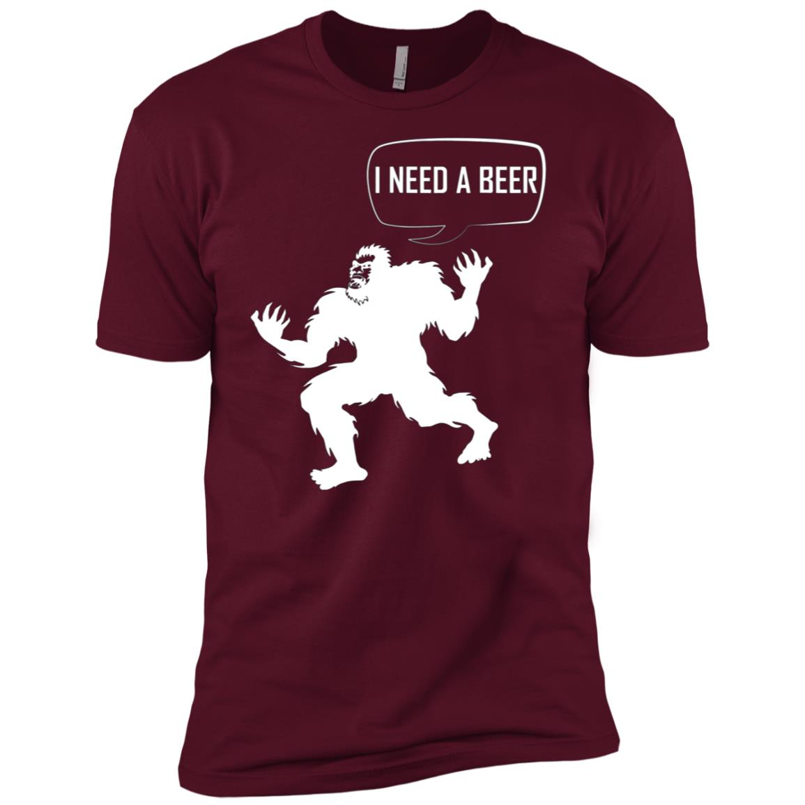 bigfoot with beer – bigfoot beer Men Short Sleeve T-Shirt