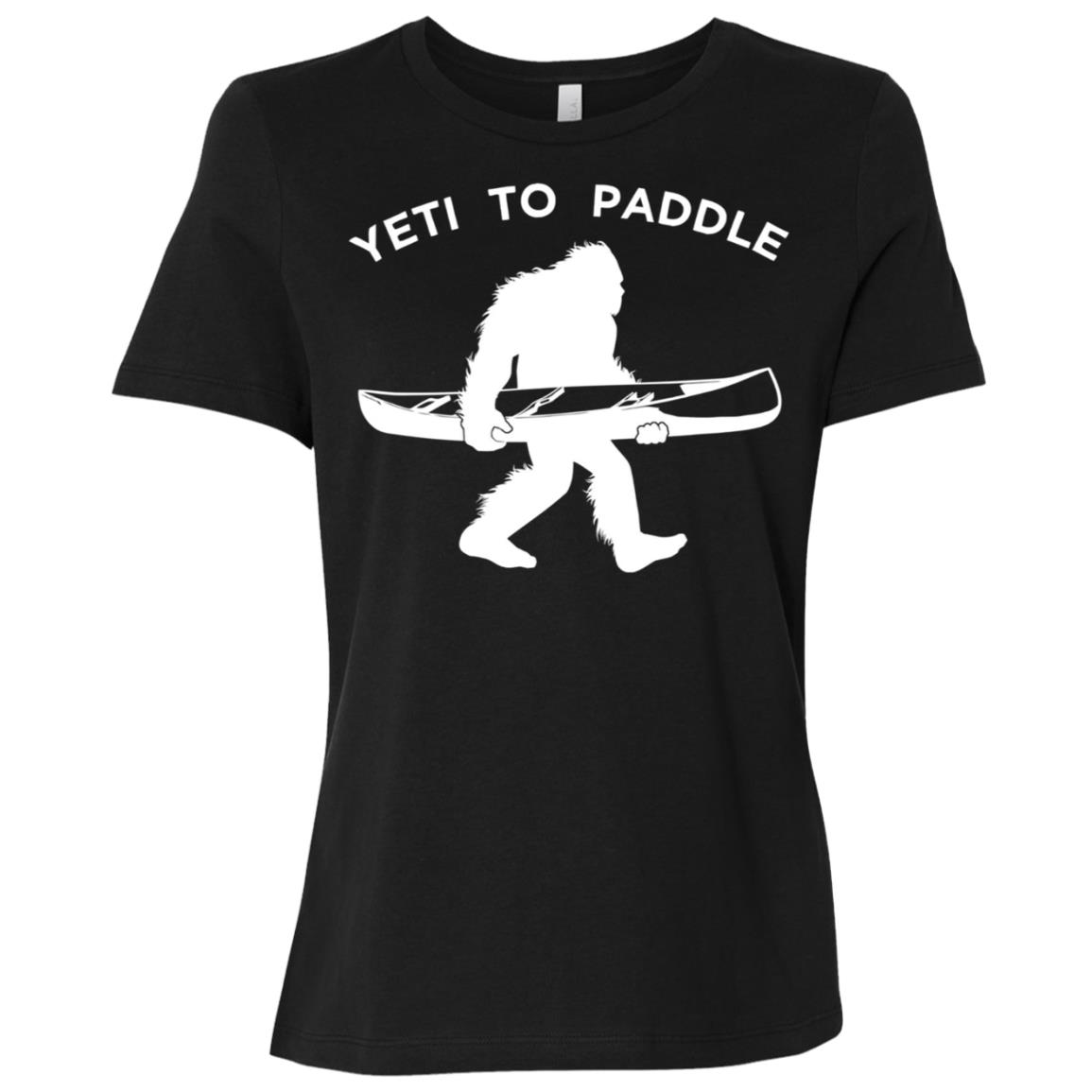 Canoe Yeti , Funny Yeti To Paddle Women Short Sleeve T-Shirt