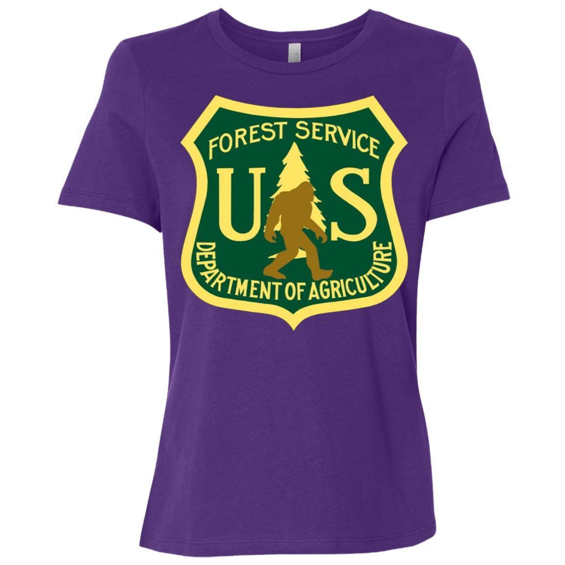Bigfoot, Sasquatch, Yeti, USFS, Funny, Women Short Sleeve T-Shirt