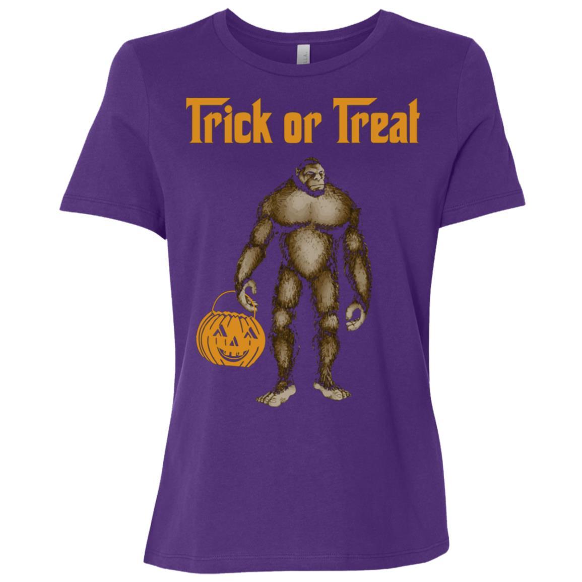 Bigfoot Yeti Sasquatch Happy Halloween Women Short Sleeve T-Shirt