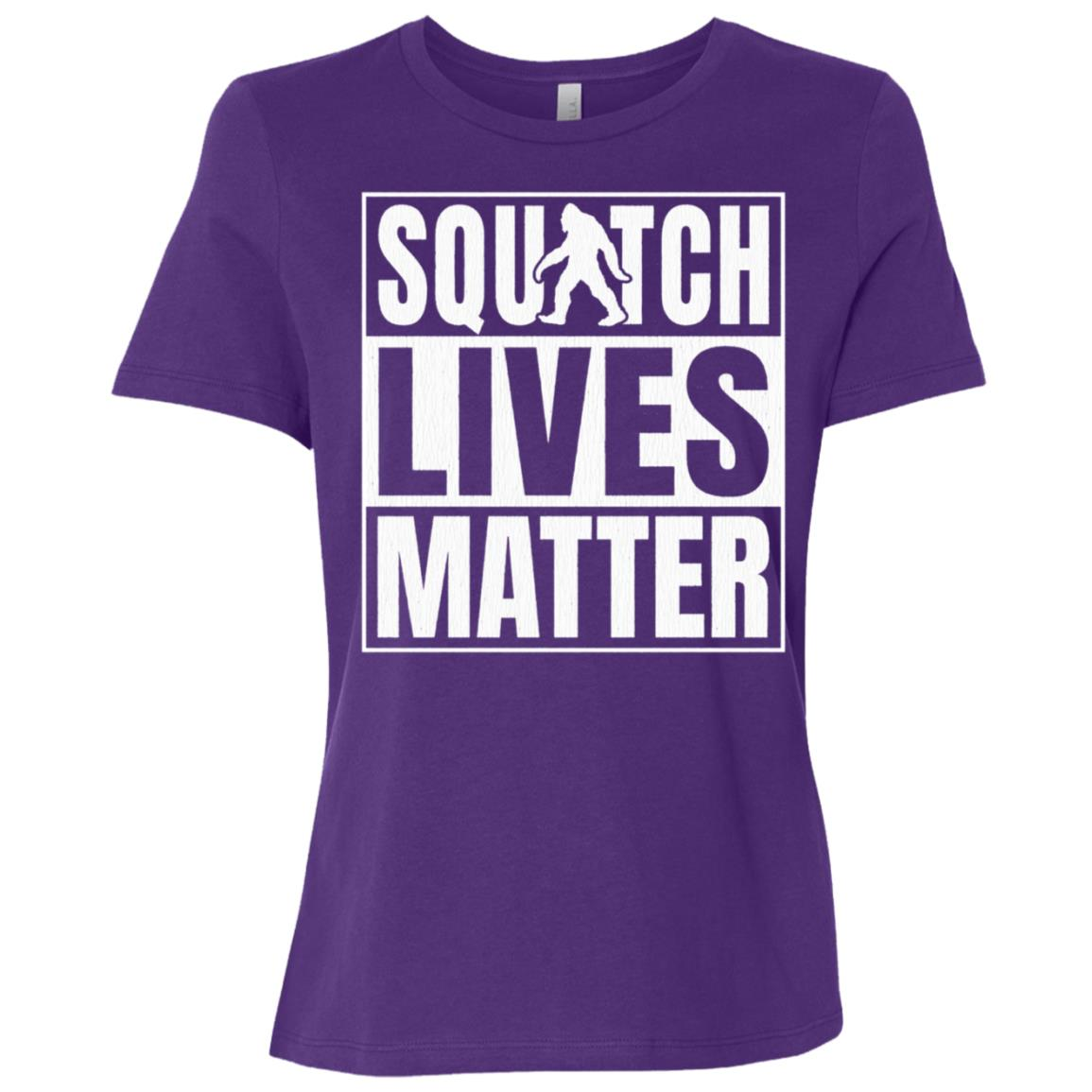 Bigfoot Yeti Sasquatch – Squatch Lives Matter Funny -1 Women Short Sleeve T-Shirt