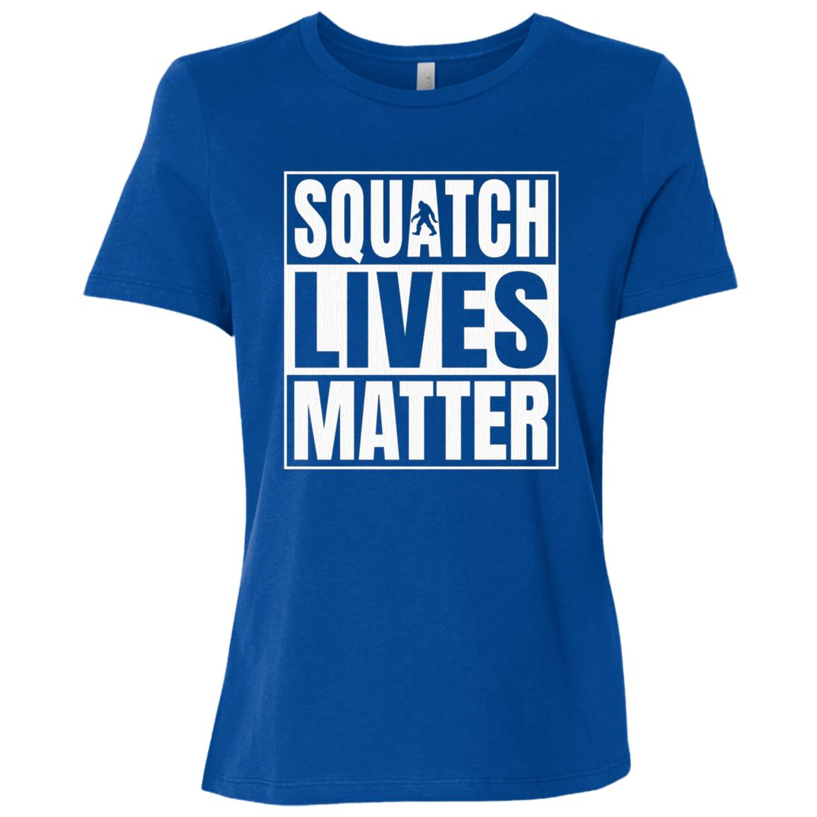 Bigfoot Yeti Sasquatch - Squatch Lives Matter Funny Women Short Sleeve T-Shirt
