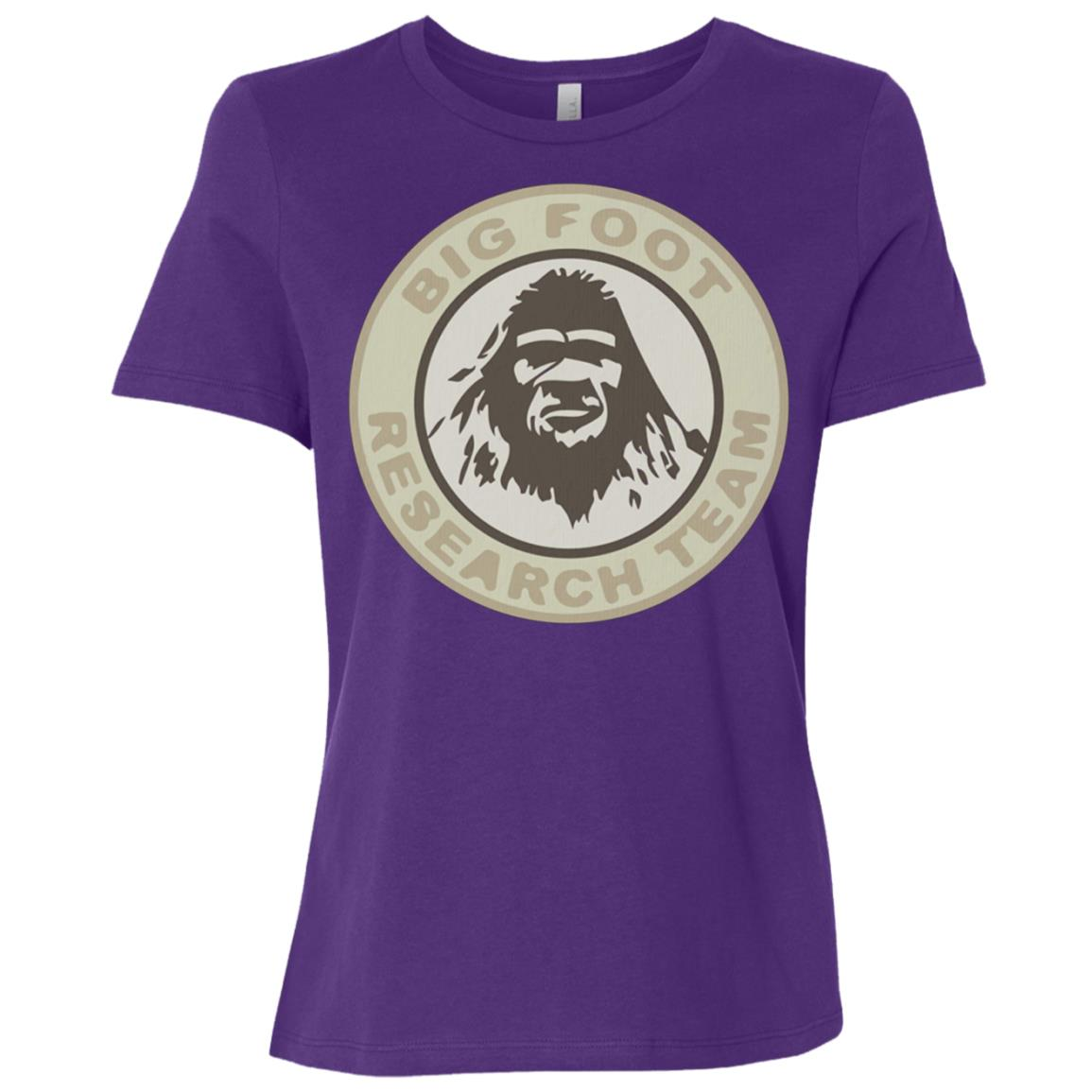 Bigfoot Yeti Research Team Sasquatch Vintage Women Short Sleeve T-Shirt