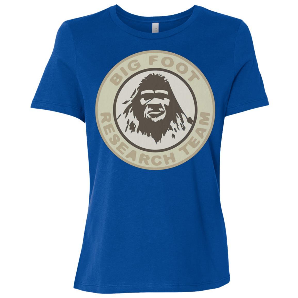 Bigfoot Yeti Research Team Sasquatch Vintage Women Short Sleeve T-Shirt