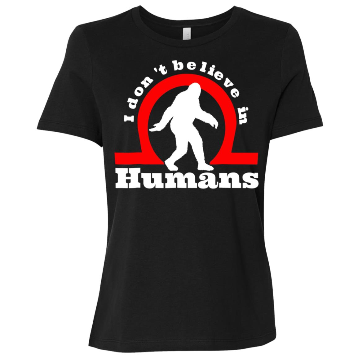 bigfoot yeti don't belive in humans funny Women Short Sleeve T-Shirt