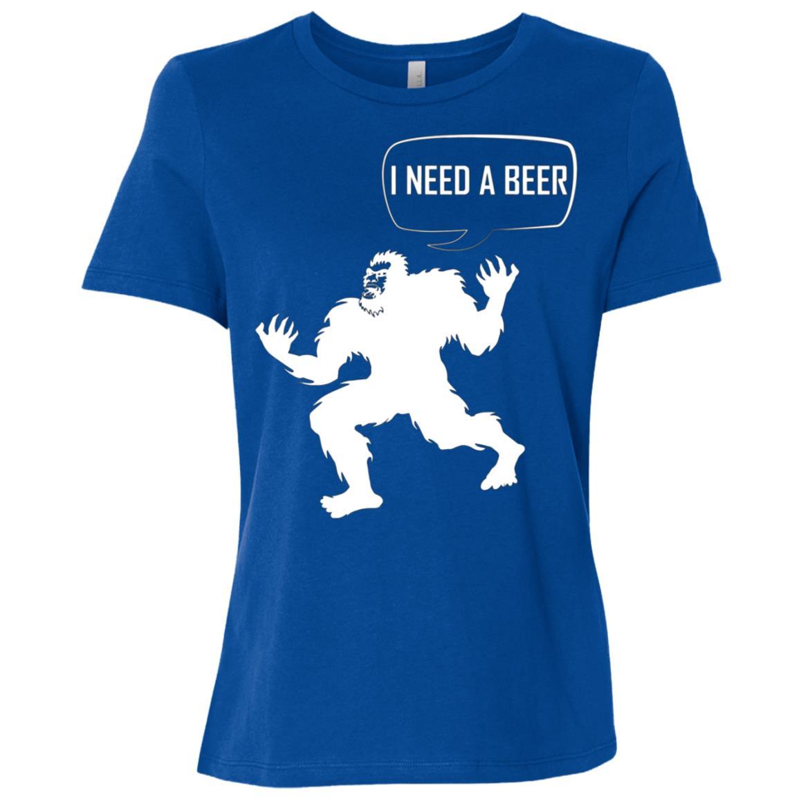 bigfoot with beer – bigfoot beer Women Short Sleeve T-Shirt