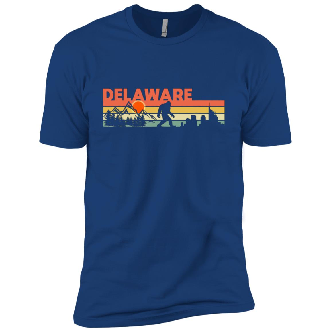 Delaware Bigfoot Silhouette Sun Vintage – Believe! Men Short Sleeve T-Shirt