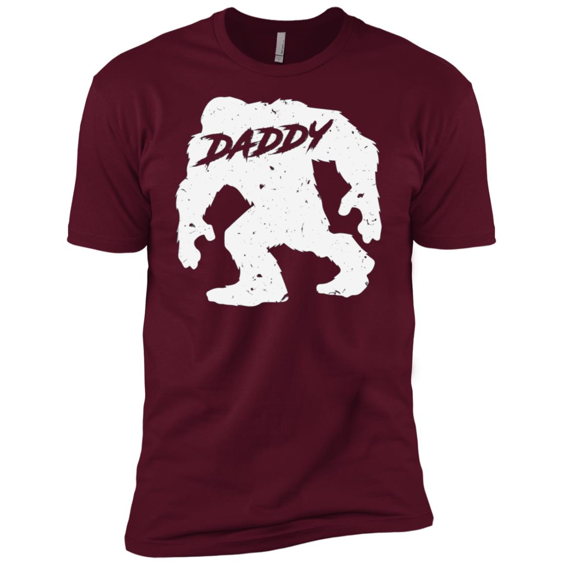 Daddy Bigfoot Sasquatch Yeti Fathers Day Gift Tee-1 Men Short Sleeve T-Shirt
