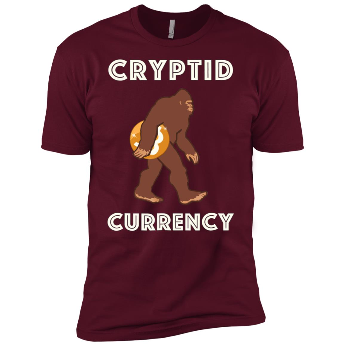 Cryptid currency bigfoot funny crypto and gift Men Short Sleeve T-Shirt