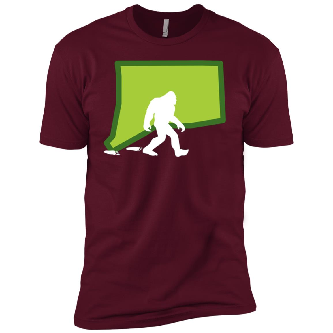 Connecticut State Bigfoot Hunter Men Short Sleeve T-Shirt