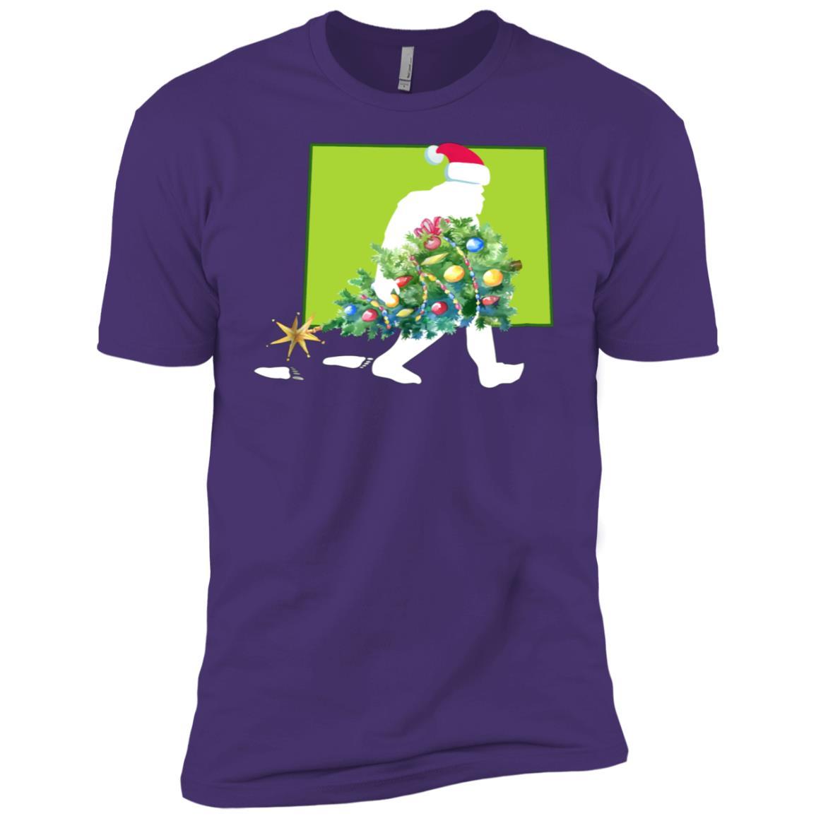 Colorado Bigfoot State Christmas Tree Men Short Sleeve T-Shirt