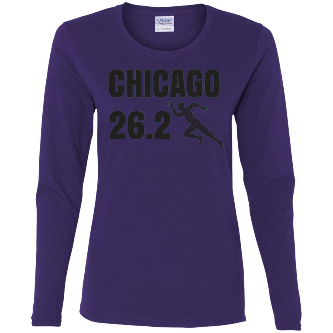 Chicago 26.2 Miles Marathon Running Women Long Sleeve T-Shirt