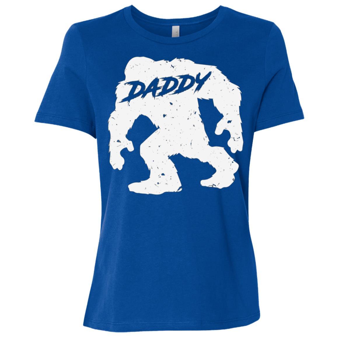 Daddy Bigfoot Sasquatch Yeti Fathers Day Gift Tee-1 Women Short Sleeve T-Shirt