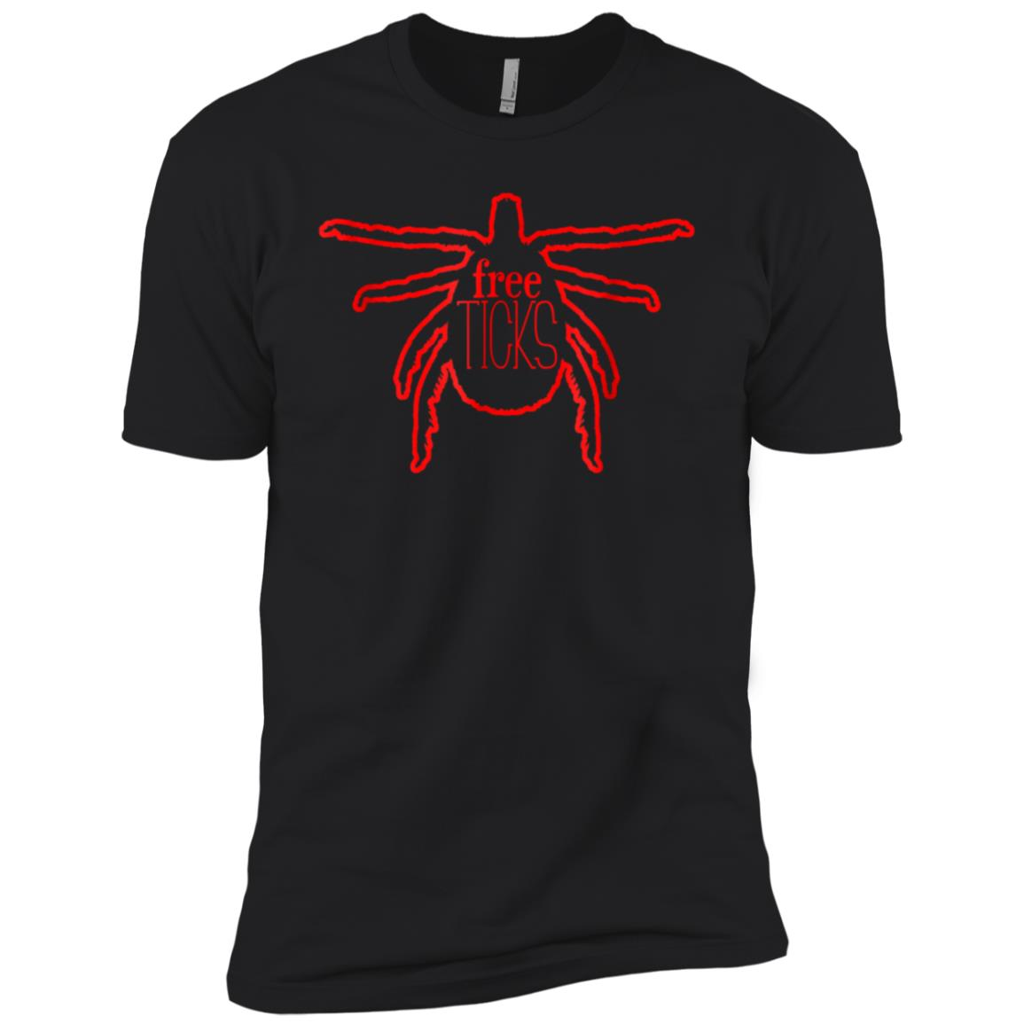 Free Ticks! Funny Parasite Camping For Campers Men Short Sleeve T-Shirt