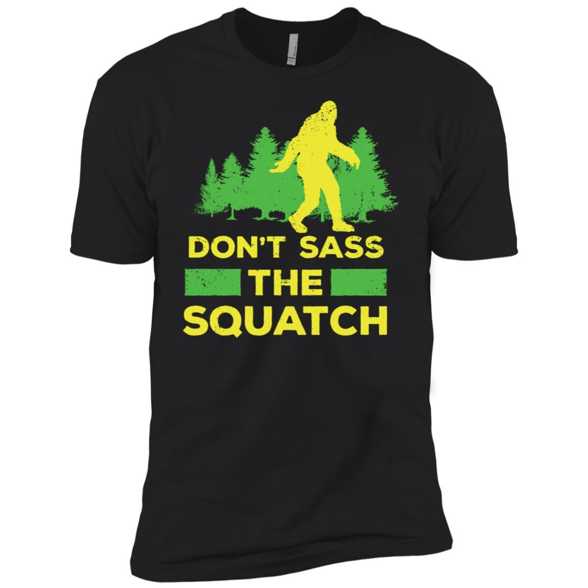 Dont Sass The Squatch Funny Bigfoot Gift Men Short Sleeve T-Shirt