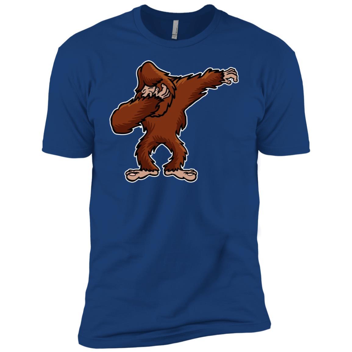 Funny Dabbing Bigfoot Funny Bigfoot Dab Dance Men Short Sleeve T-Shirt