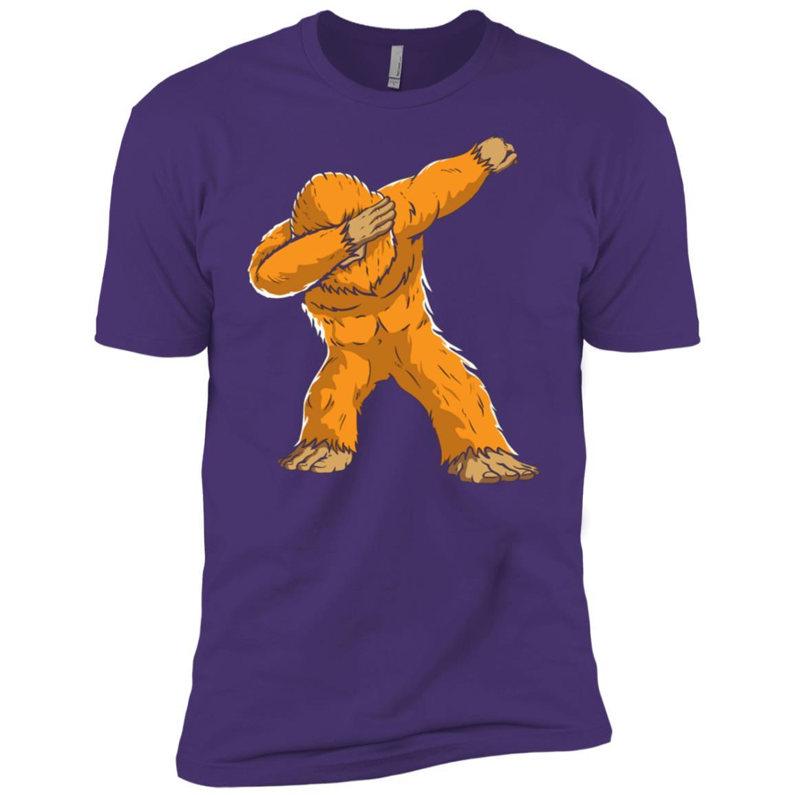 Funny Dabbing Bigfoot Cool Gift For Kids Men Short Sleeve T-Shirt