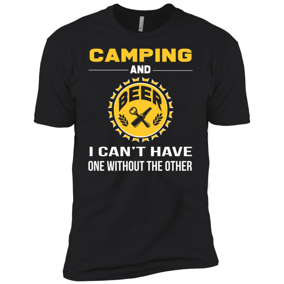 Funny Camping Girf For Day Drinking Beer Men Short Sleeve T-Shirt