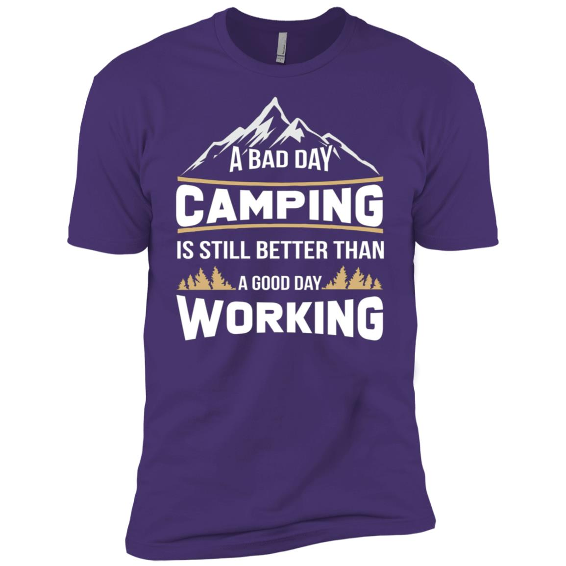 Funny Camping Day Gift For Father's Day Men Short Sleeve T-Shirt