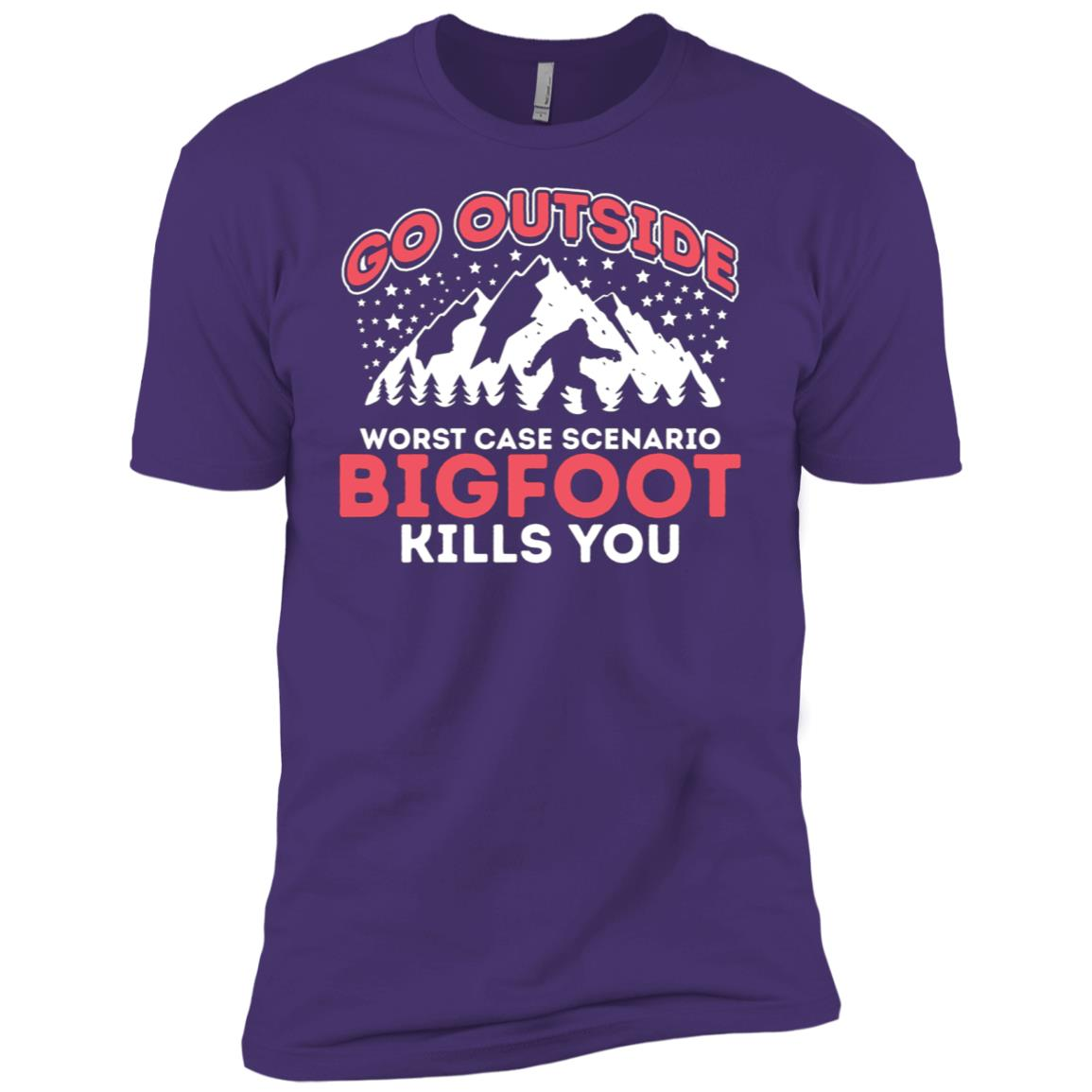 Funny Bigfoot Worst Case Men Short Sleeve T-Shirt