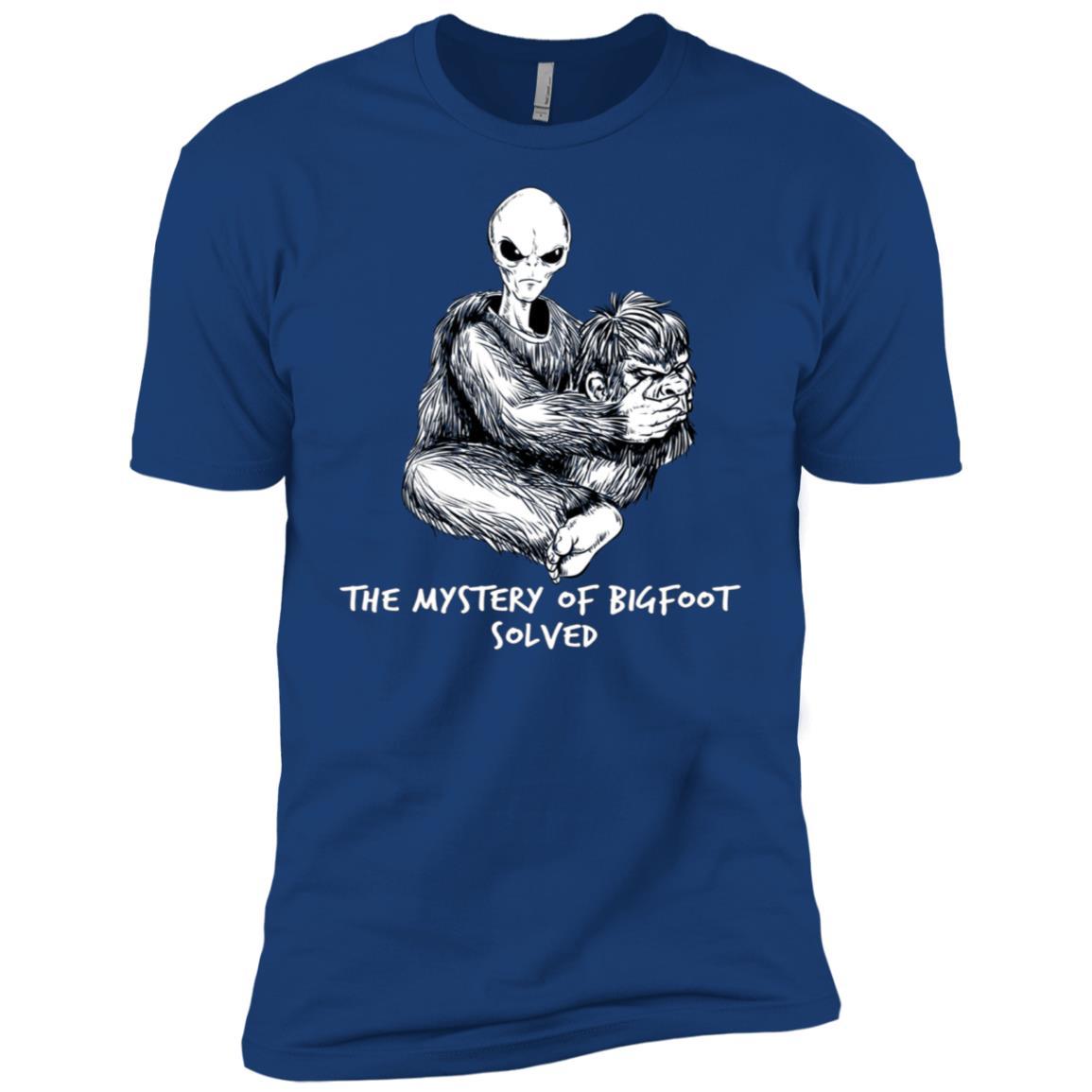 Funny Bigfoot Mystery Of Big Foot Alien UFO Men Short Sleeve T-Shirt