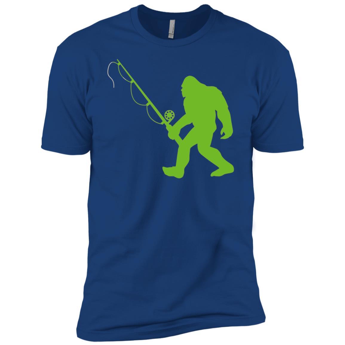 Funny Bigfoot Fishing Men Short Sleeve T-Shirt
