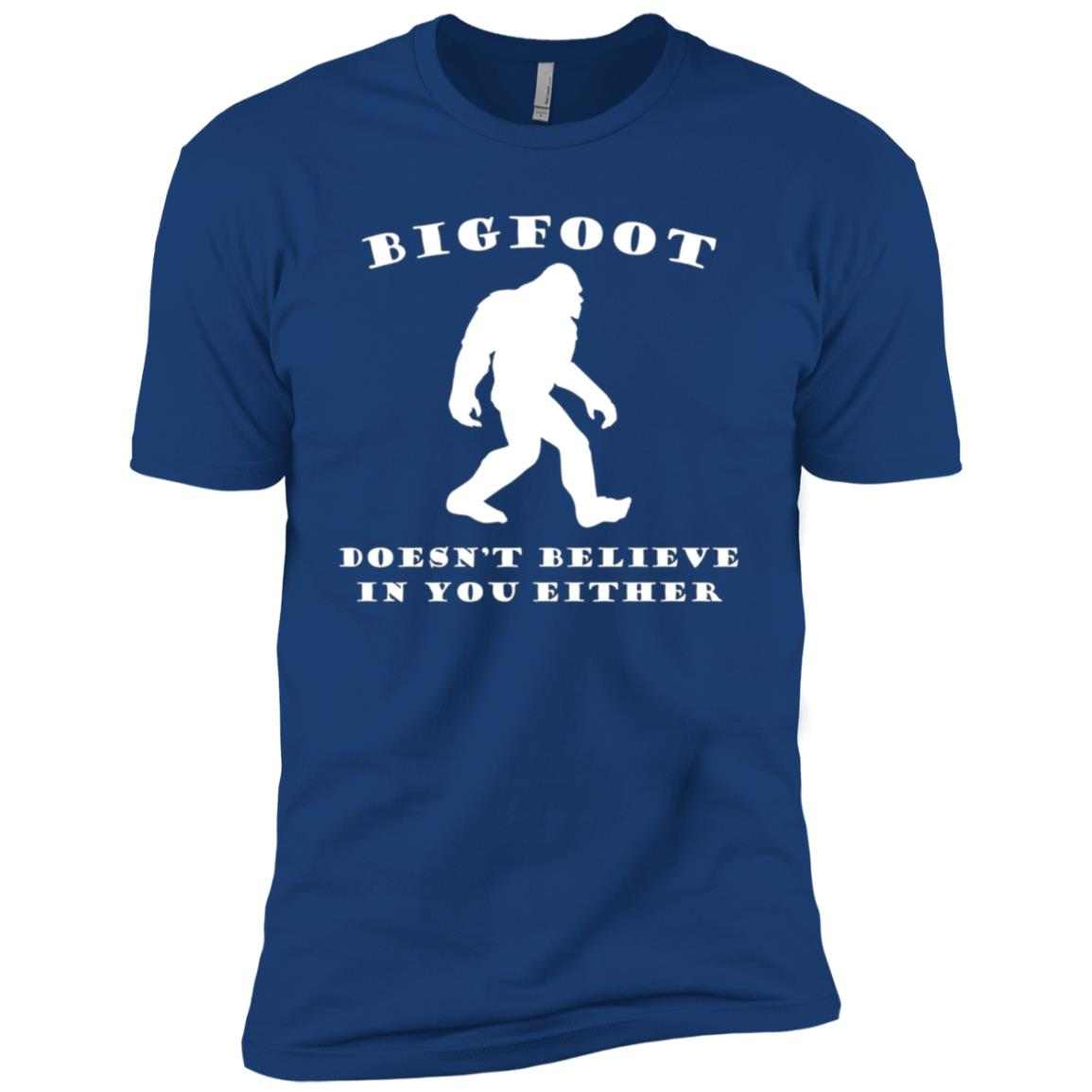 Funny Bigfoot Doesn't Believe In You Either Men Short Sleeve T-Shirt