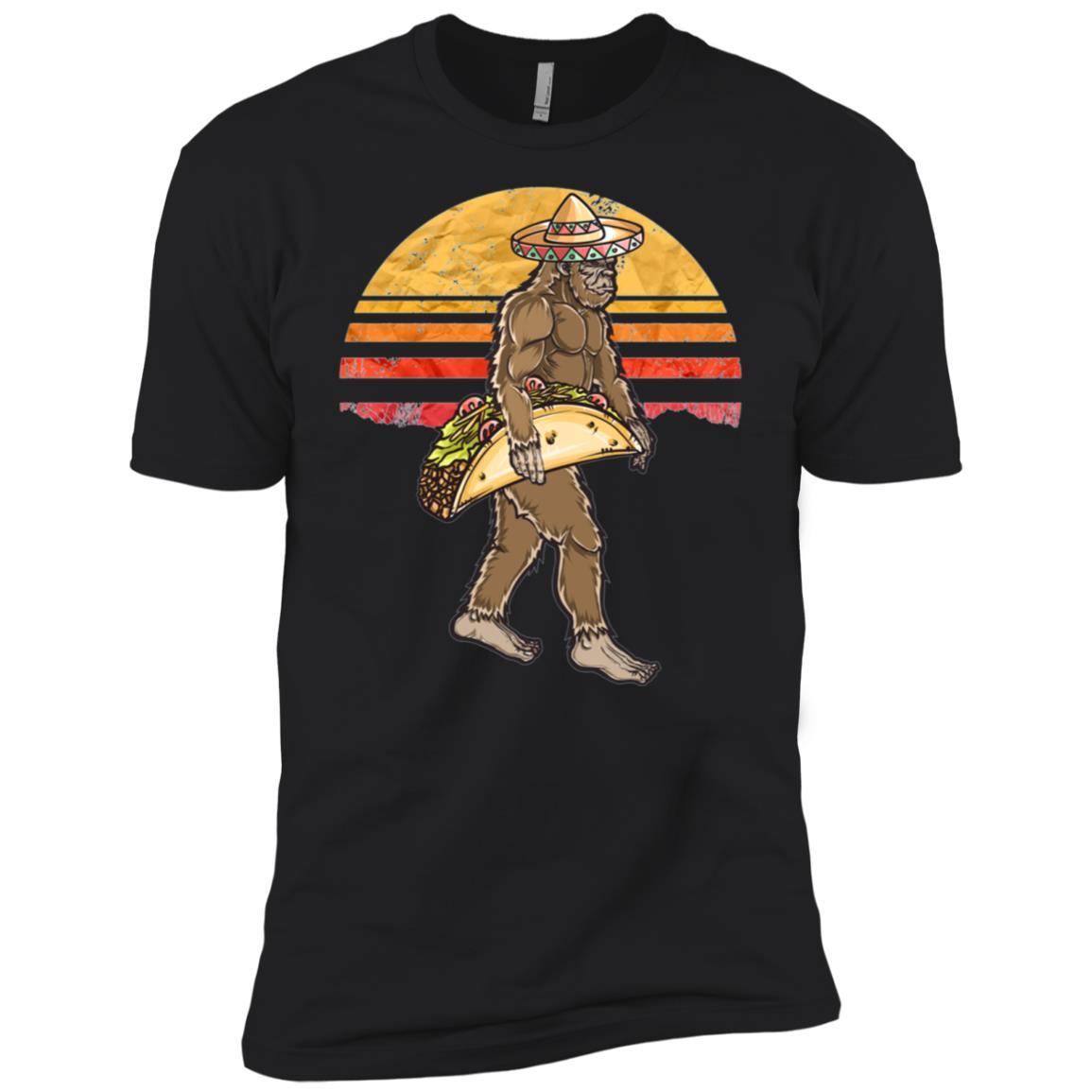 Funny Bigfoot Carrying a Taco Cinco de Mayo-1 Men Short Sleeve T-Shirt